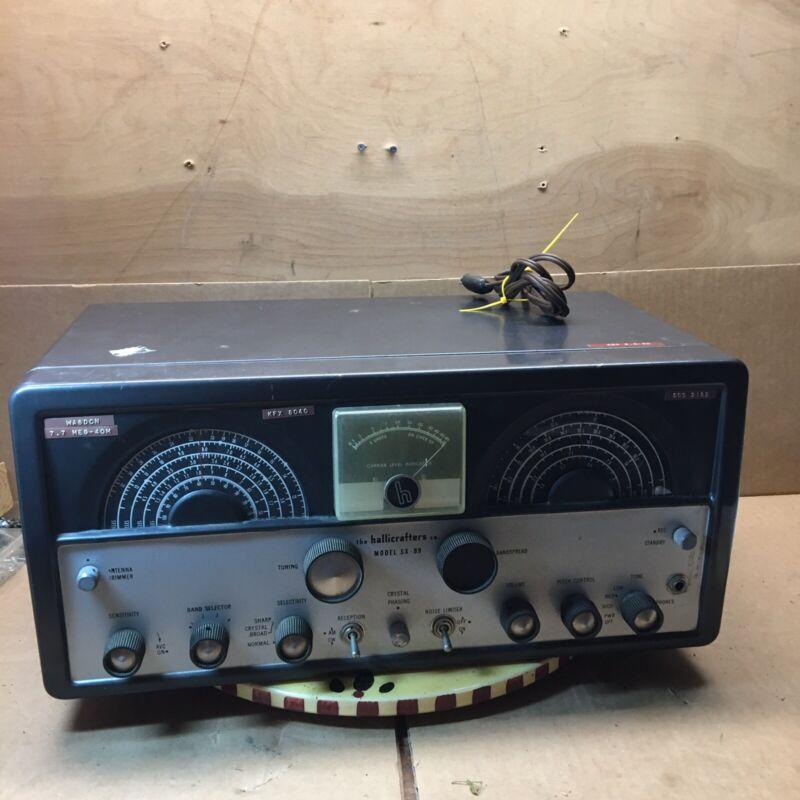 hailliecrafter shortwave radio receiver  model sx-99 made in usa.