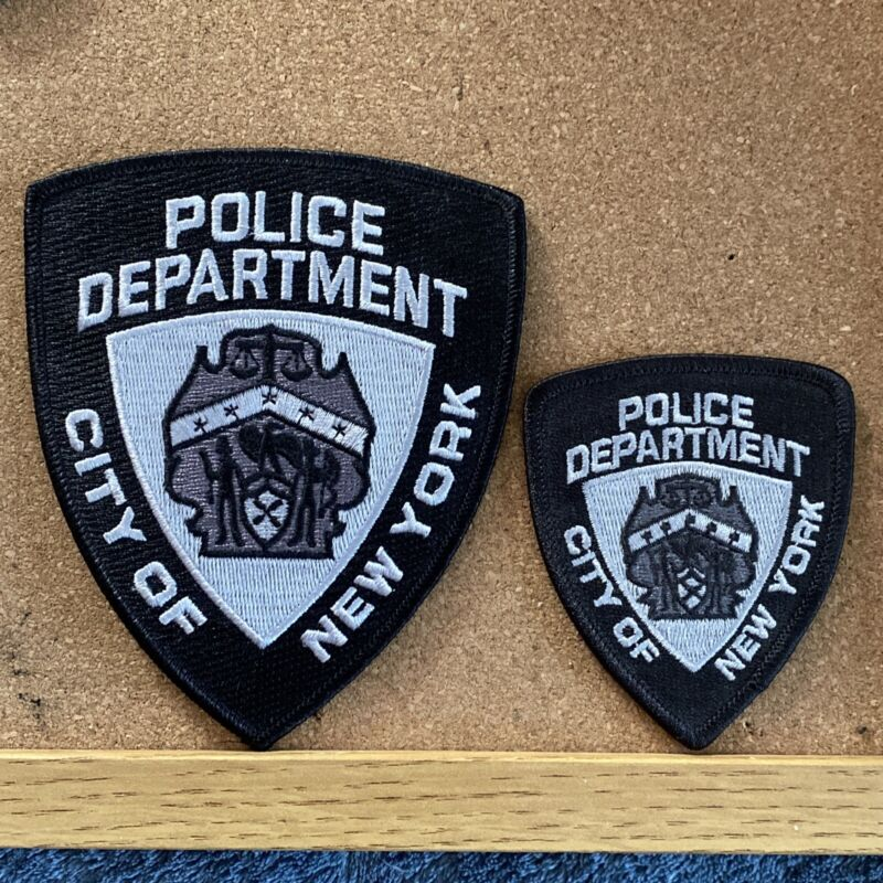 (2) NYPD New York City Police Department Black Patch SWAT Subdued