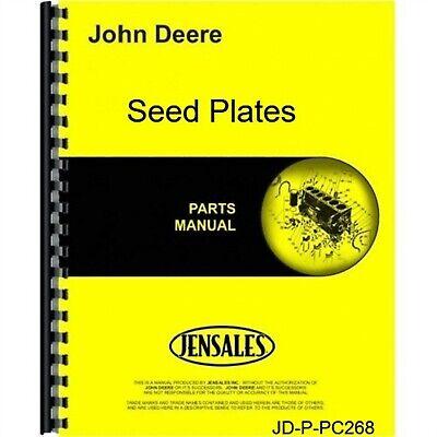 John Deere Seed Plates Parts Manual Catalog Pc268