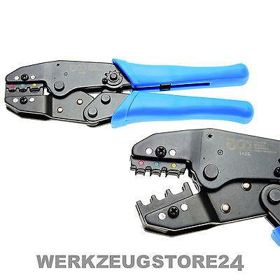 BGS Kabelschuhzange mit Ratschenfunktion 0,5 - 6 mm² - 1426 - Quetschzange Kabel