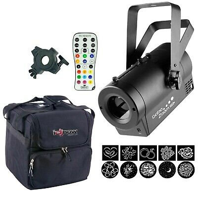 Chauvet DJ Gobo Zoom USB Monogram Projector  W/Clamp + Case + IRC-6 Remote
