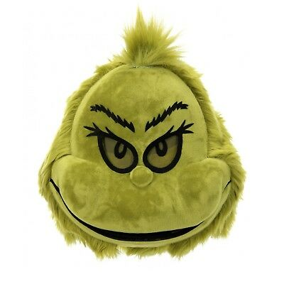 The Grinch Halloween Costume (Adult The Grinch Mouth Mover Christmas Halloween Dr Seuss Costume Fuzzy)
