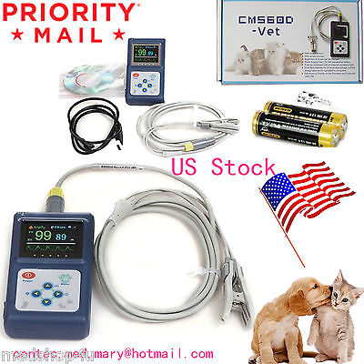Cms60d-vet Veterinary Pulse Oximetertongue Spo2 Probepc Software Usbbattery