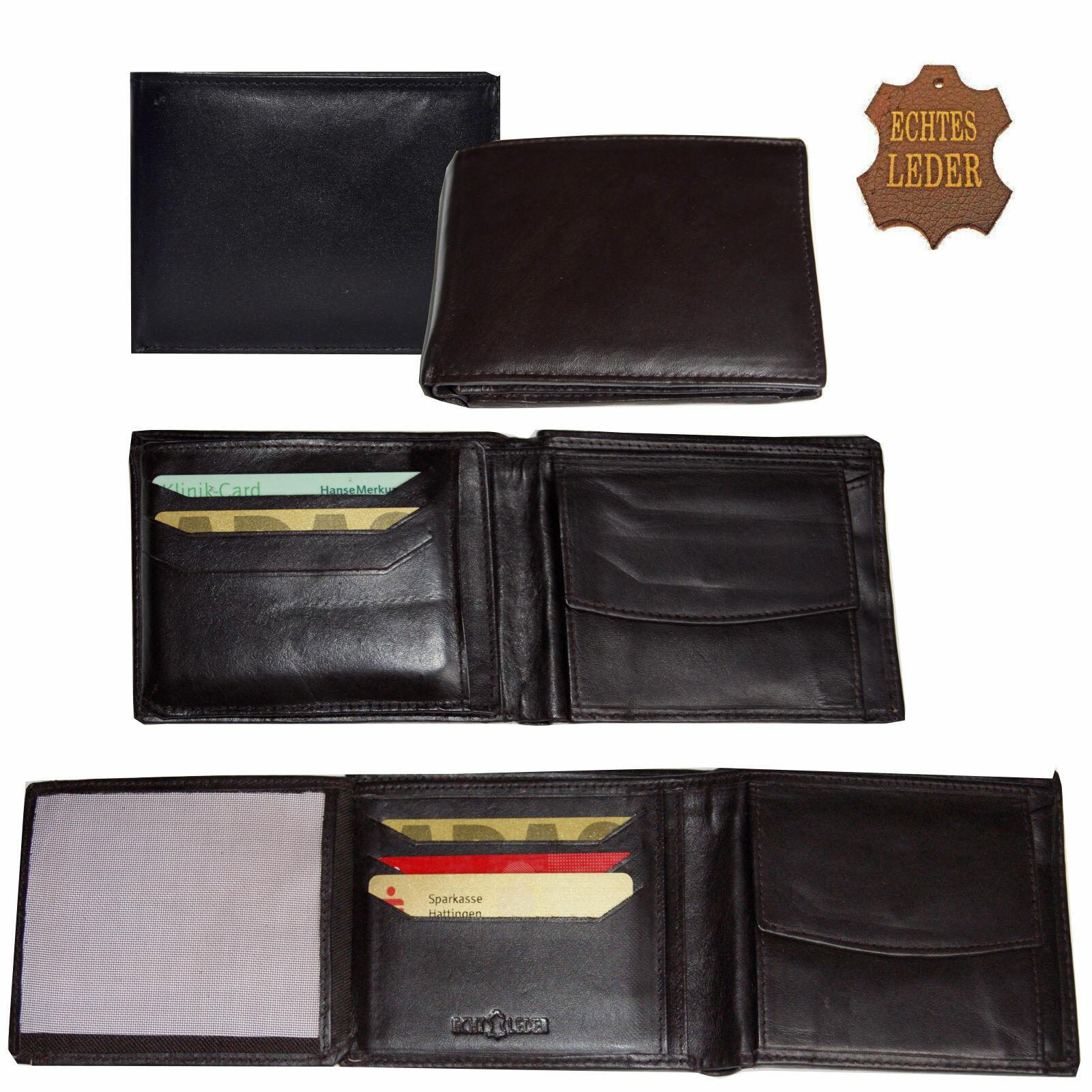 Geldbörse Geldbeutel Portemonnaie Brieftasche Echt Leder Börse Herren Damen Neu
