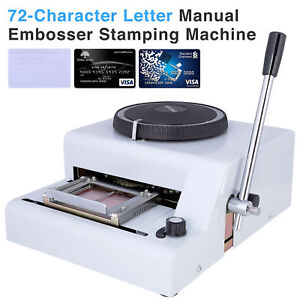 Credit card embosser ebay 72 character letter manual embosser stamping machine pvc credit card embossing reheart
