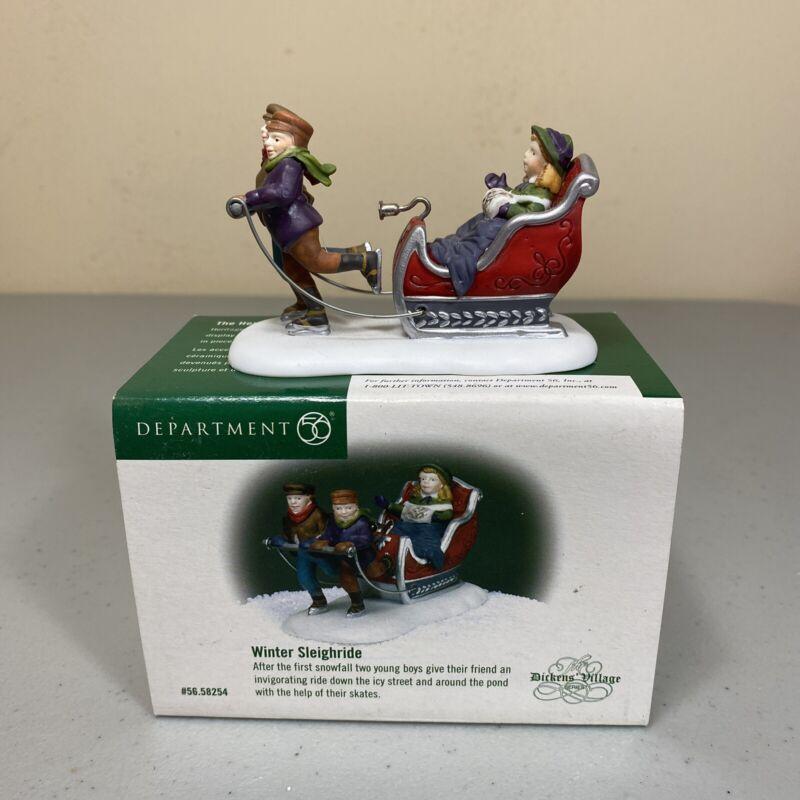 New Department 56 Dickens Village Winter Sleighride Figurine 56.58254 Christmas