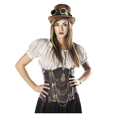 Womens Steampunk Victorian Western Costume Crop Top White Costume PLUS & Regular](Costume Western)