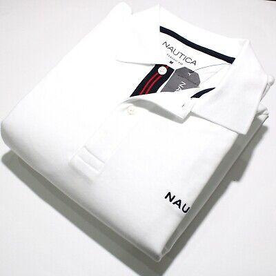 Men's Nautica Short Sleeve White Polo Shirt | NWT