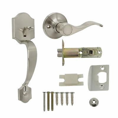 Satin Nickel Single Cylinder Door Handle-set - Satin Nickel Handleset