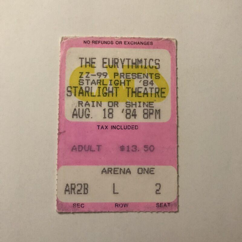 The Eurythmics Starlight Theatre MO Concert Ticket Stub Vintage October 1984