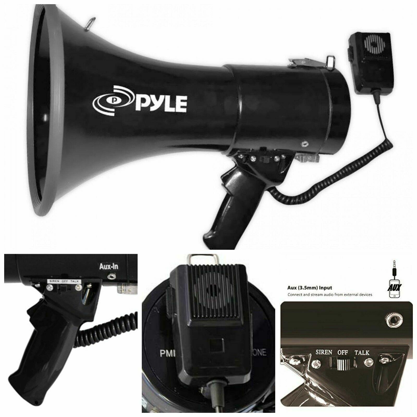 Aux Megaphone Speaker Bullhorn PA Speaker External Megaphone