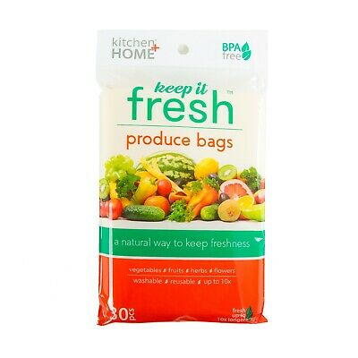Produce Fresh Bags - Set of 30 Reusable Freshness Preserving Storage Food Savers