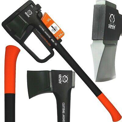 Ascia DEMON spacca legna 640g - 3.4Kg accetta manico fibra di vetro ergonomico