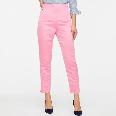 J Crew NWT $110 High-Rise Cigarette Pant in Satin | Sz 10 | Vintage 1960's (1960's Womens Pants)