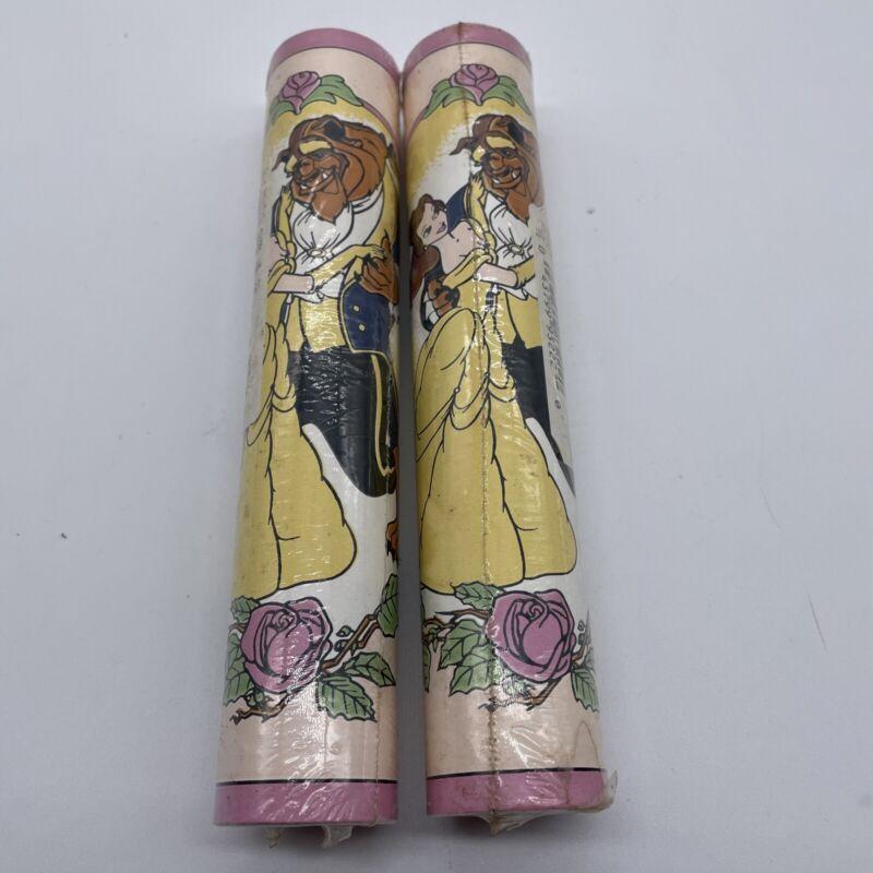 2 Rolls of Vintage Disney Beauty and the Beast Wallpaper Border 15 feet
