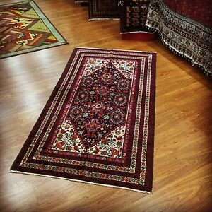 Great Persian Tribal Wool Rug With Herbal Dyes