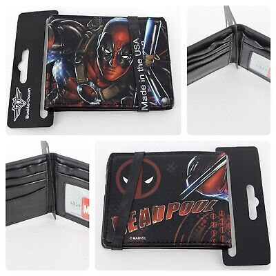 Buckle-Down Men's Bi-fold Wallet Marvel's Deadpool Wallet Card Slots Brand New