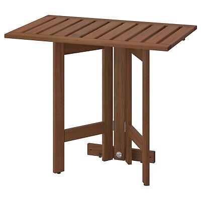 IKEA Wandklapptisch / Exterior, Mesa Plegable de Jardín Braun las.80x56cm Acacia