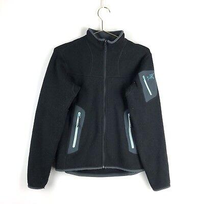 Arcteryx Fleece Jacket Size Medium 3M Outerwear Black Womens Zip Up Coat ()
