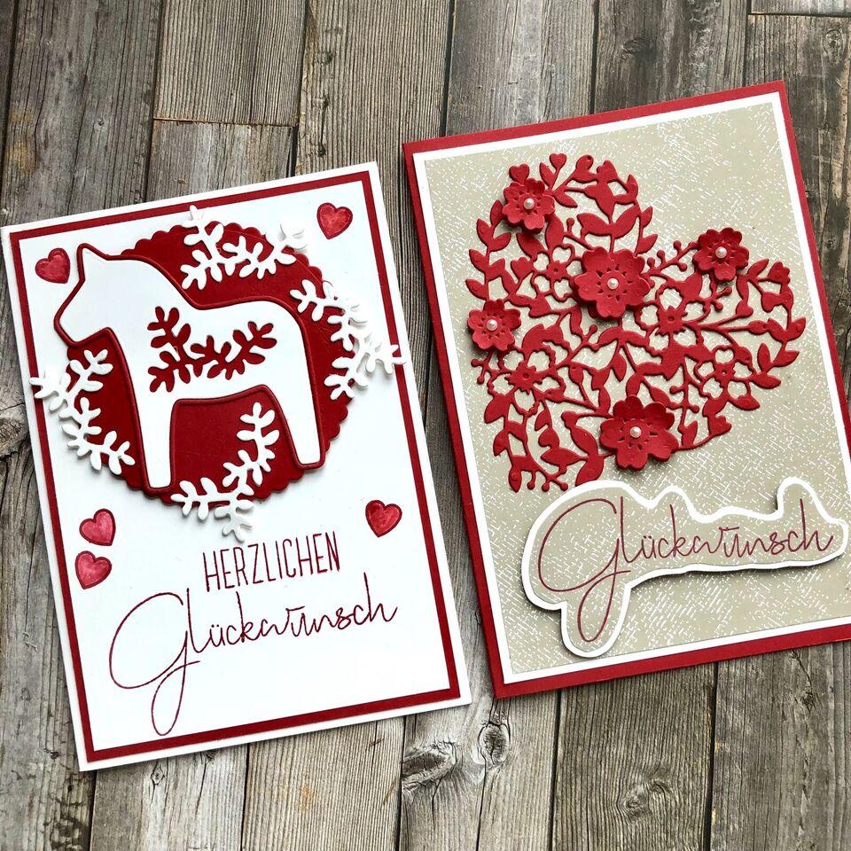 Handgemachte Karten zu allen Anlässen mit Stampin'Up Farbkarton in Hessen - Dieburg