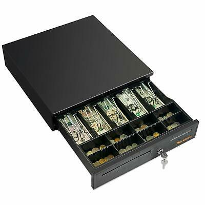 16 Cash Register Drawer 5 Bill 8 Coin Money Box Compatible Wposprinter Black