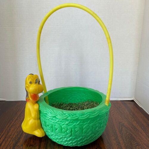 Vintage Disney Pluto Blow Mold Easter Basket.