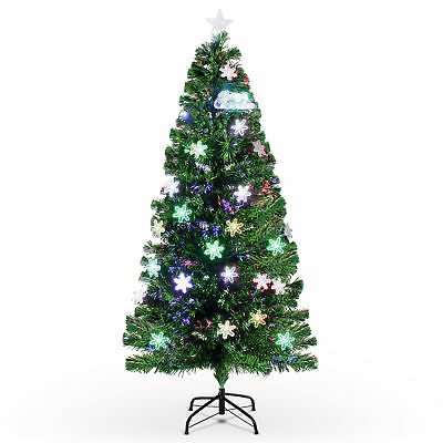 Artificial 7' ft Fiber Optic Christmas Tree w/ LED Multicolor Prelit Lights ()