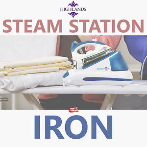 Power Steam Iron Generator with Station Quick Laundry Ironing 20G/Minute 2600W