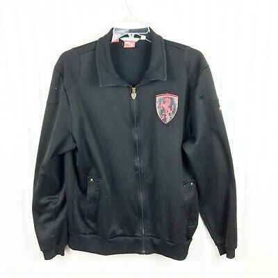 Puma SF Scuderia Ferrari T7 Mens Track Jacket Black Zip Up Size XL