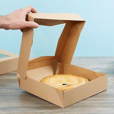 200bundle 10 X 10 X 2 12 Kraft Auto-popup Window Pastry Bakery Box