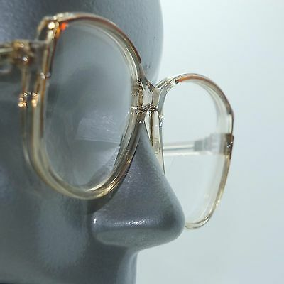 Bifocal Reading Glasses Big Bold Statement Frame Clear Caramel Accent +3.25 Lens