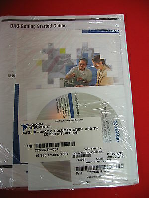 National Instruments 7788637t-031 Mfg Ni-daqmx Software Windows 2000xpvista