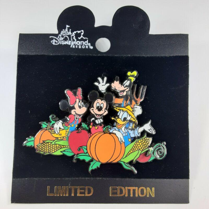 Disney Pin DLR Exclusive Pumpkin Patch Harvest Fab 4 Mickey Minnie Donald Goofy