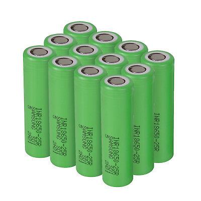 Lot Samsung 18650 Lithium 25R 2500mAh 25A Li-ion Battery Batteries-US
