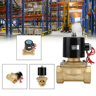 Dc 12v G1-12 Brass Electric Solenoid Valve For Water Air Gas Normally Closed