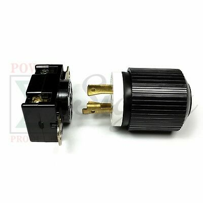 Generator Rv Ac Plug Socket L14-30 30 Amp 120v 220v Male Female Receptacle