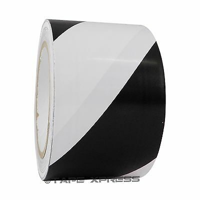 Black White 3 X 36 Yd Vinyl Floor Marking Safety Warning Tape Pvc 6 Mil