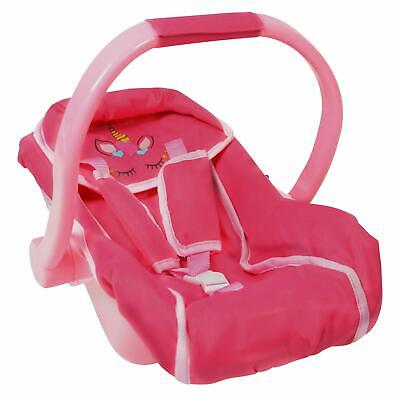 Unicorn Baby Doll car seat and Diaper Bag for Dolls -Great Baby Doll Accessories