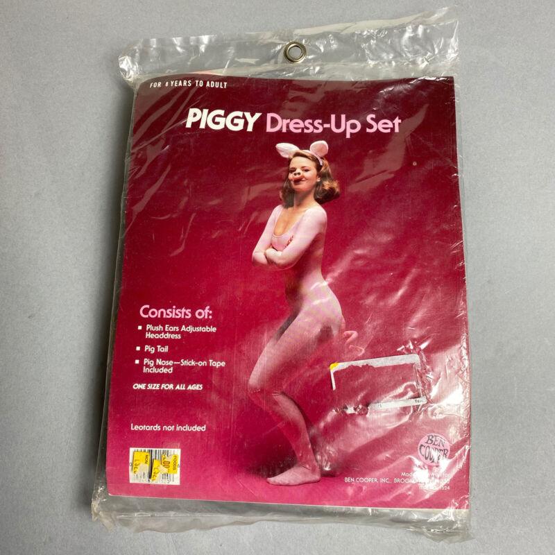 Vintage 70s/80s Ben Cooper Piggy Dress Up Set PIG Halloween Costume Accessories