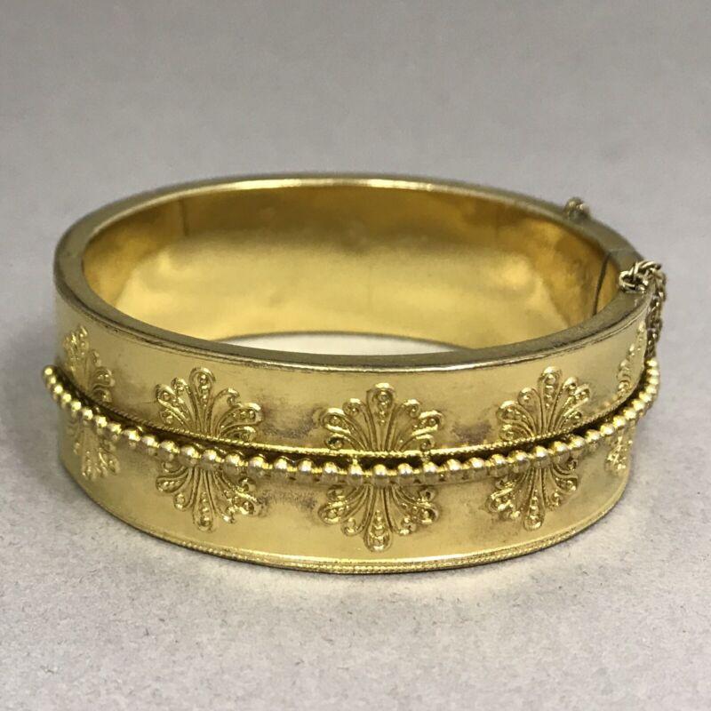 Antique Victorian Etruscan Revival Gold-Filled Bangle Bracelet