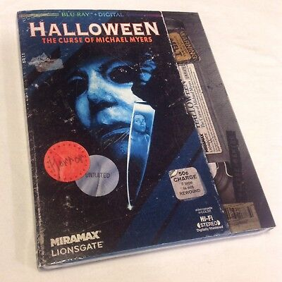 HALLOWEEN THE CURSE OF MICHAEL MYERS WALMART VHS RETRO BLURAY EXCLUSIVE NEW 2018
