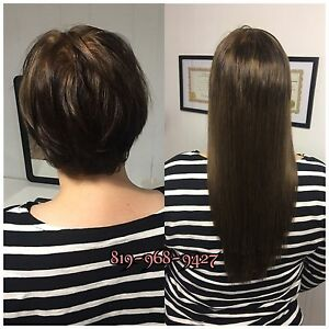 EXTENSION de cheveux loop, kératine, cousu 250$