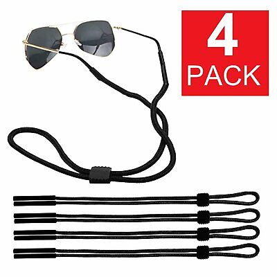 4-Pack Neck Strap Sport Sunglass Eyeglass Read Glasses Cord Lanyard Holder Black Health & Beauty