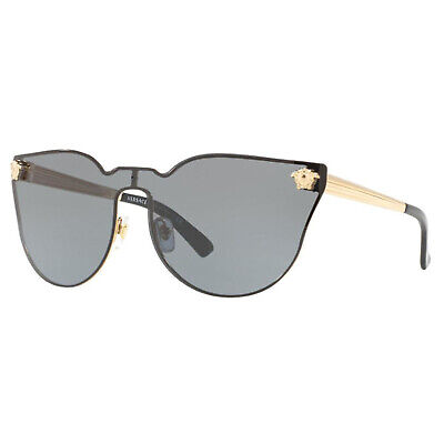NEW VERSACE VE2120 100287 GOLD/Black AUTHENTIC SUNGLASSES 43-135