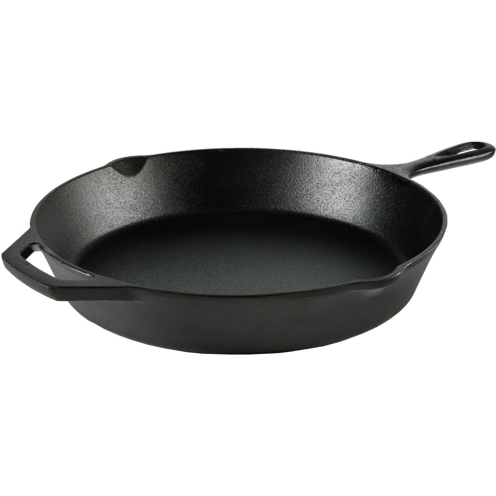 Cast Iron Skillet 12 Inch Nonstick Frying Pan Oven Cooking P