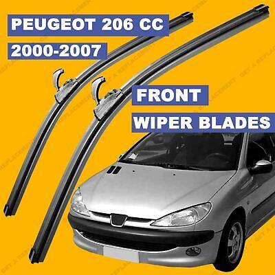 U-hook Front set Wiper Blade For Peugeot 206 00-07 51 52 53 54 55 56 57 reg