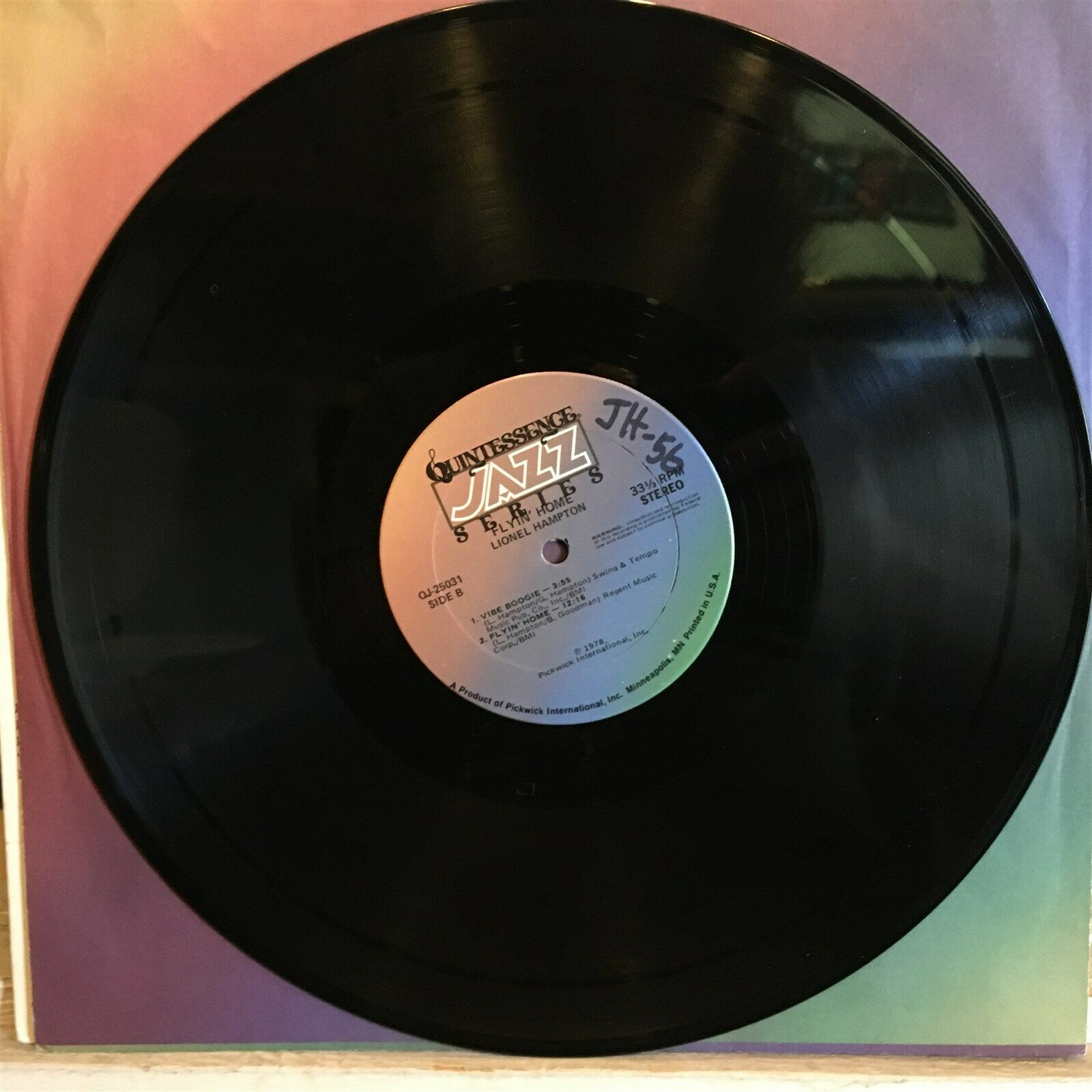 [JAZZ]~EXC LP~LIONEL HAMPTON~Flyin' Home~[1978~QUINTESSENCE~Issue]~