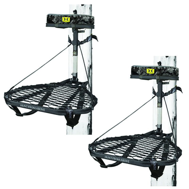 Hawk COMBAT Durable Steel Hunting Treestand & Full-Body Safety Harness (2 Pack)