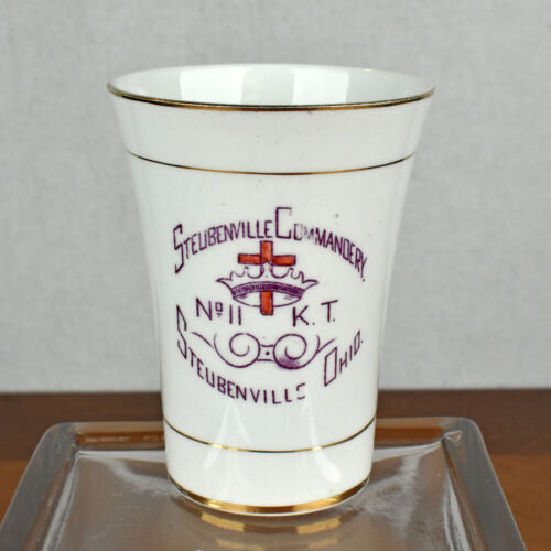 VTG Knights Templar No 11 Steubenville Commandery American China Porcelain Cup