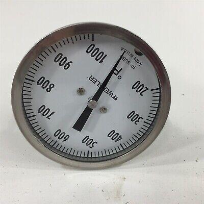 Weksler 3 Bimetal Thermometer 01000f 10 Degree Subdivided